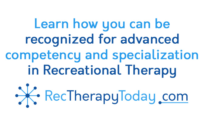 Advanced competency in recreational therapy