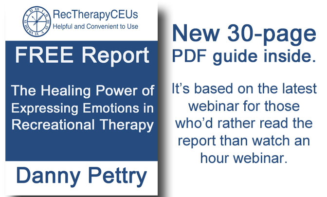 Rec Therapy CEUs - special reports