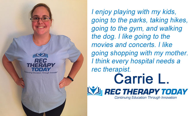 Carrie P. shares her favorite activities.