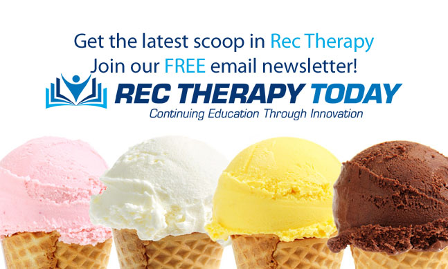 Get the latest scoop in rec therapy