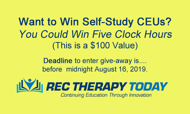 August Contest — Enter for a chance to win five (5) clock hour self-study CEU program with required book ($100 Value)