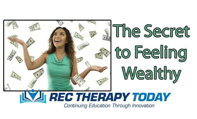 The secret to feeling wealthy