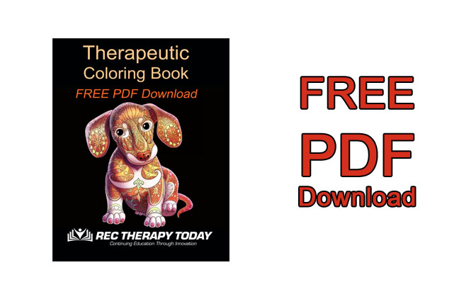- FREE [PDF] Download: Therapeutic Coloring Book Rec Therapy Today®
