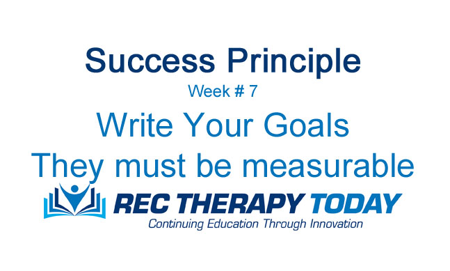 Write Your Goals