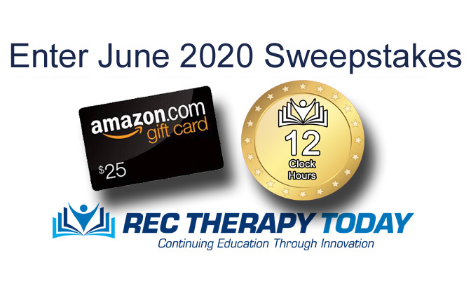 Enter for a chance to win June 2020 Giveaway from Rec Therapy Today