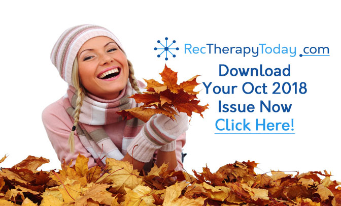 the free e-magazine for recreational therapists