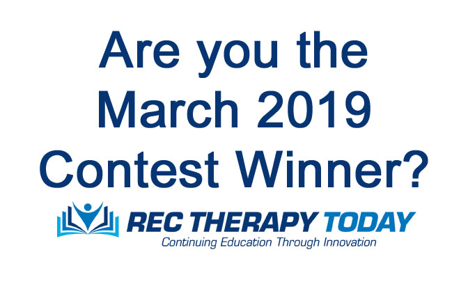 Are you the March 2019 Contest Winner?