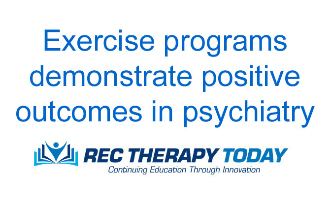 Psychiatry patients show positive response to structured exercise program