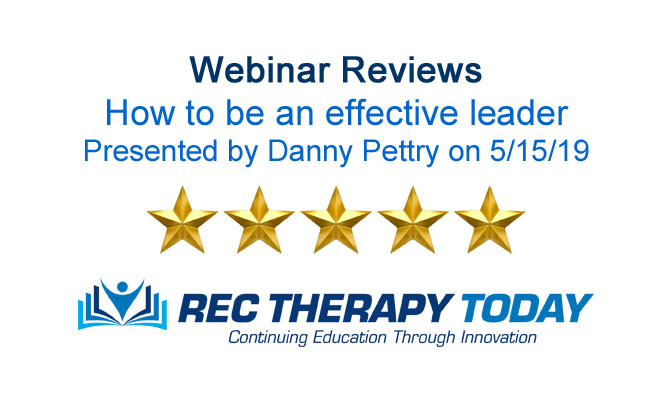 Read the evaluations for: how to be an effective leader — presented by Danny Pettry on 5/15/19