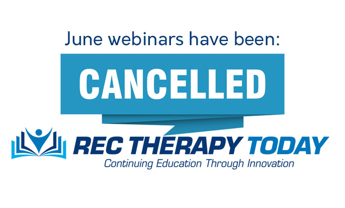 June webinars have been cancelled.