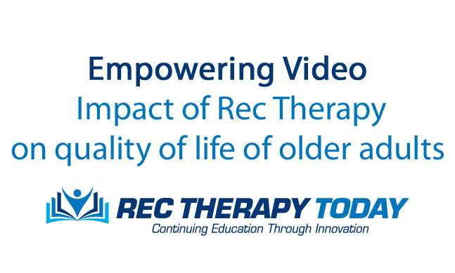 recreational therapy and exercise for older adults