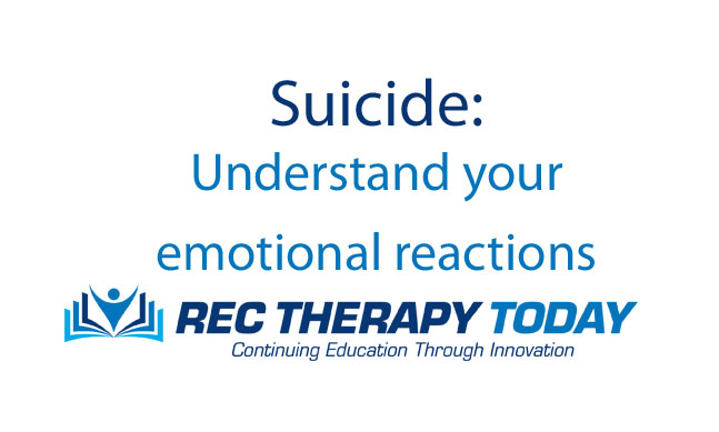 Recreational Therapy and Suicide