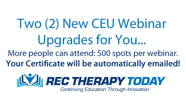 New CEU Webinar Upgrades for You
