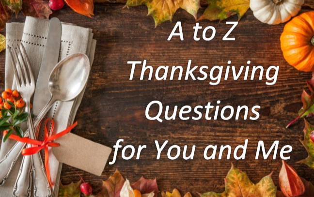 FREE ebook with 25 questions (from A to Z) about Thanksgiving