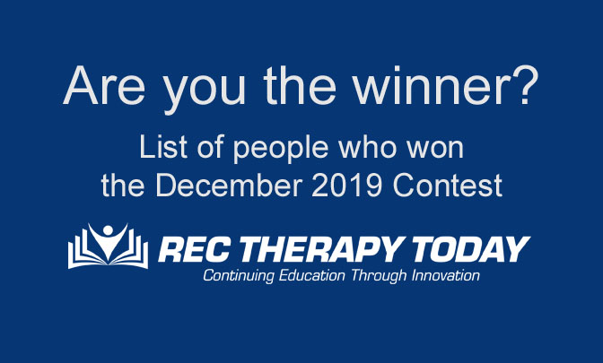 Did you win our December 2019 Contest?