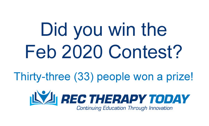 Did you win the Feb 2020 Contest?