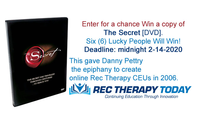 "Win a copy of ""The Secret"" DVD."