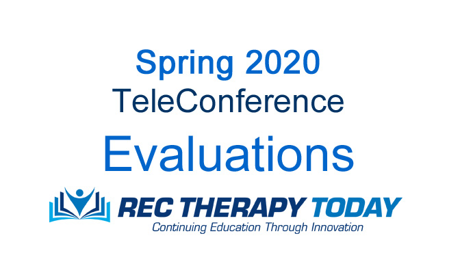 Spring 2020 Teleconference Evaluations