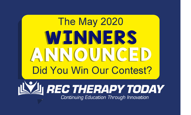 Did You Win the May 2020 Contest?