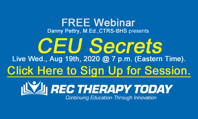 FREE Webinar: Danny Pettry presents: CEU Secrets — Live Wed. Aug. 19th 2020 @ 7 p.m. (Eastern Time).