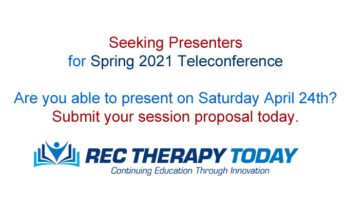 Seeking Presenters for Spring 2021 Teleconference